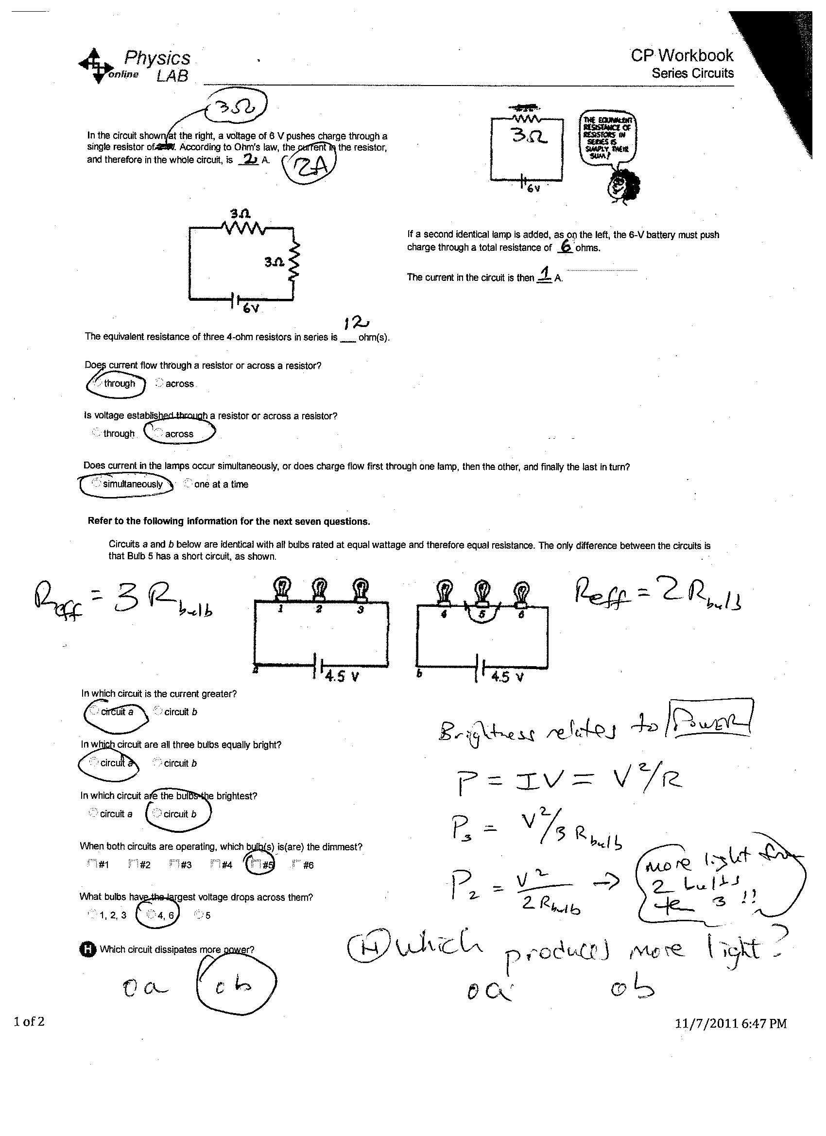 Worksheets Cpo Science Worksheets assignments dr roths physix page 5 6